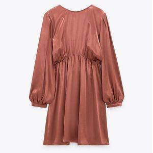 ZARA Satin Effect Mini Dress (Brand-new)